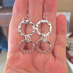 Jewelry - Hammered silver hoop earrings